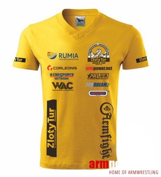 ZLOTY TUR WORLD CUP 2015  T-SHIRT BY ARMFIGHT BRAND - Unisex