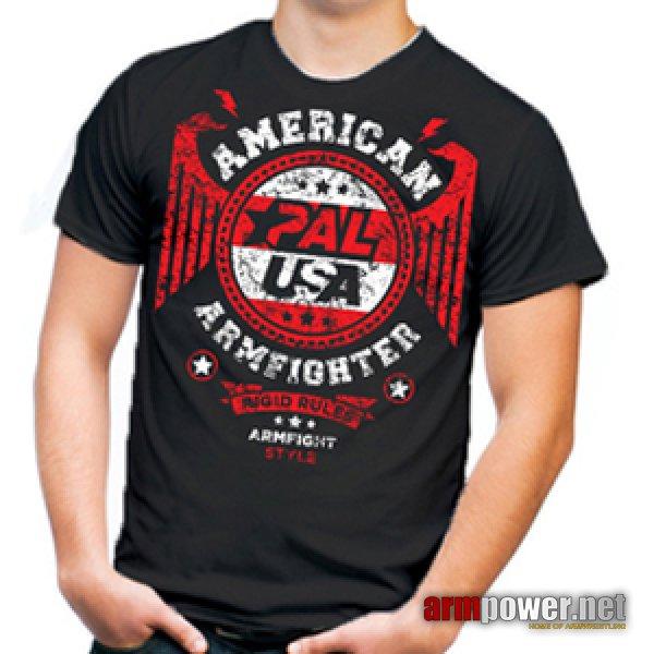 Unisex AMERICAN ARMFIGHTER shirt – black.
