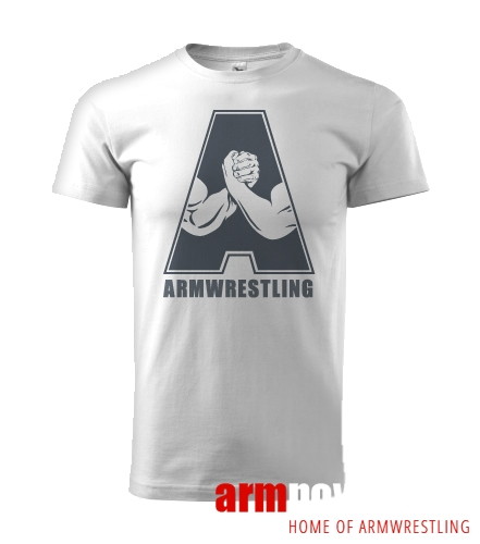 "Unisex ARMWRESTLING  ""A"" T-shirt - white"