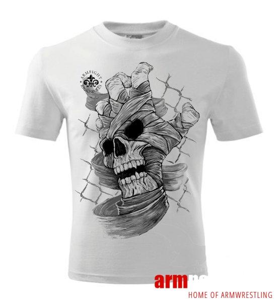 SKULL HAND ARMFIGHT T-Shirt (unisex) - white