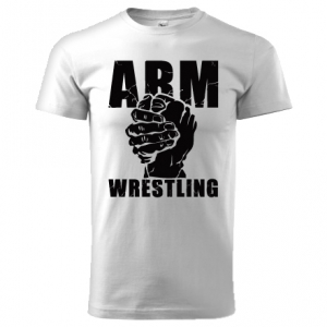 Unisex ARMWRESTLING  T-shirt - white