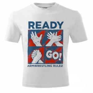 Unisex READY GO T-shirt - white