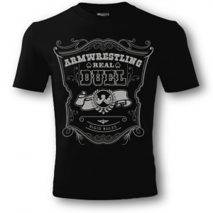 Unisex REAL DUEL T-shirt – black.