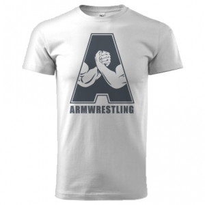 """Unisex ARMWRESTLING  """"A"""" T-shirt - white"""
