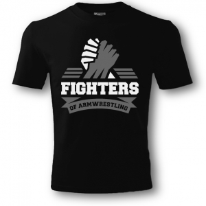 Unisex FIGHTERS T-shirt – black. Printing: white-grey