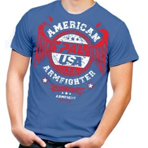 Unisex AMERICAN ARMFIGHTER shirt – blue