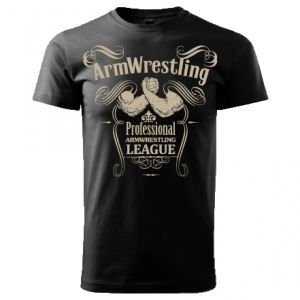 "Unisex ARMWRESTLING ""PAL""  T-shirt - black."