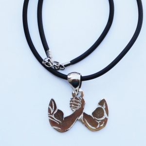 Arms silver pendant