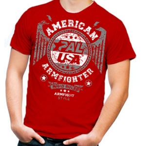 Unisex AMERICAN ARMFIGHTER shirt – red