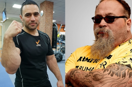 Ilya Izman: Rustam Babayev - Tim Bresnan. Or the opposition of two rocks? # Armwrestling # Armpower.net