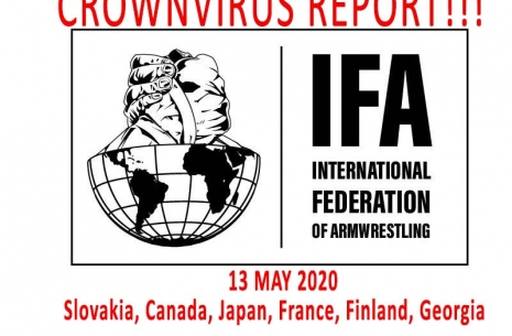 IFA ARMWRESTLING REPORT - 13 MAY 2020 # Armwrestling # Armpower.net