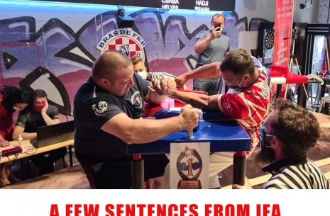 A FEW SENTENCES FROM IFA # Armwrestling # Armpower.net