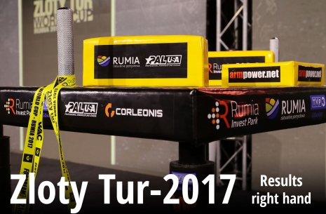 Zloty Tur-2017: right hand full results # Armwrestling # Armpower.net