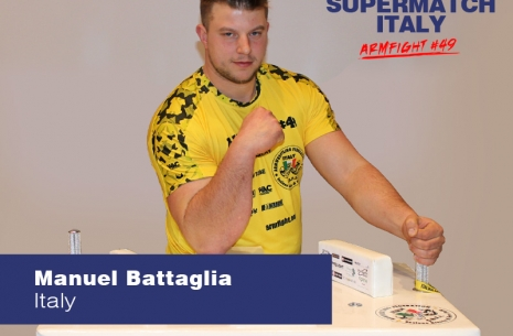"Manuel Battaglia: ""I hope for a revenge"" # Armwrestling # Armpower.net"