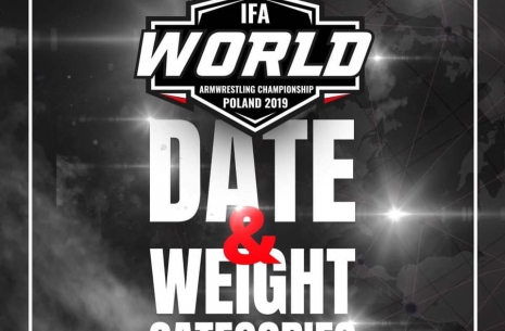 IFA Worlds weight classes # Armwrestling # Armpower.net