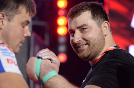 "Genadi Kvikvinia: ""I am pleased with Levan's performance"" # Armwrestling # Armpower.net"