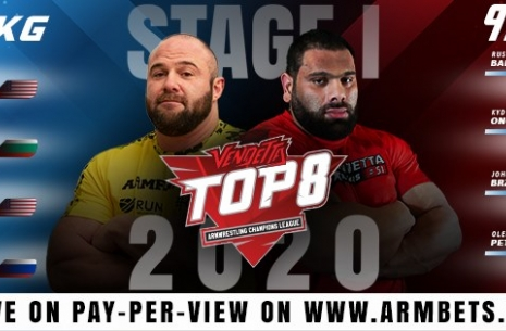 The first stage of Top 8 2020 will be held in Ukraine! # Armwrestling # Armpower.net