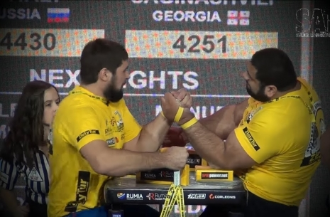 Third stage of the Top-8: Levan Saginashvili vs. Vitaly Laletin # Armwrestling # Armpower.net