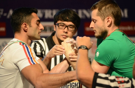 "Emil Amirshadyan: ""It seems I can hardly beat Arthur Makarov"" # Armwrestling # Armpower.net"