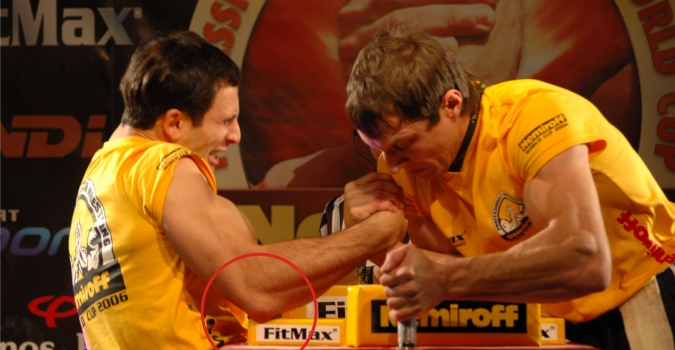 Basics Of Armwrestling Tying The Strap Injuries Armwrestling Armpower Net