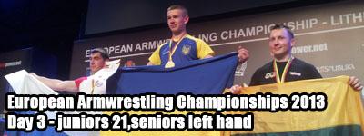 Euroarm 2013 - day 3 - left hand juniors 21, seniors