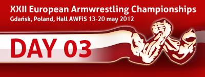 XXII European Armwrestling Championships - Day 3