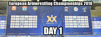 European Armwrestling Championships - Day 1