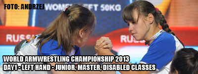 World Armwrestling Championship 2013 - day 1