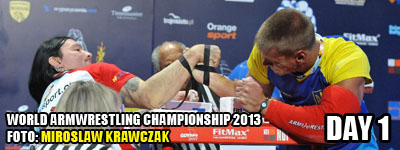 World Armwrestling Championship 2013 - day 1 - photo: Mirek